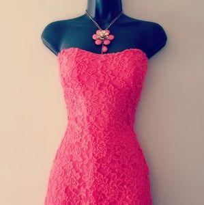 Burnt Orange Lace Ladies Summer Dress by Love J